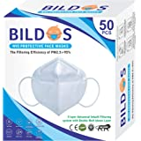 Bildos Melt blown & Non-woven Protective Advanced In-built 5 Layer with Double Melt blown Layer N95 Face Mask For Outdoor & t