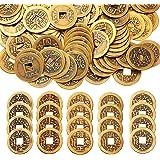 mengger Chinesische Glücksmünzen Feng Shui I-Ching Münzen für Glück Gesundheit und Reichtum 100 Stücke