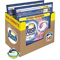 Dash Pods Allin1 Detersivo Lavatrice in Capsule Bouquet Primaverile, Maxi Formato da 70 x 2 Pezzi, 140 Lavaggi