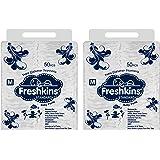 Freshkins Standard Diaper Pant Medium - (Pack of 2, 100 Unit)