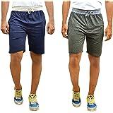 MOTUS Mens Cotton Casual Shorts, Multicoloured, Combo Pack