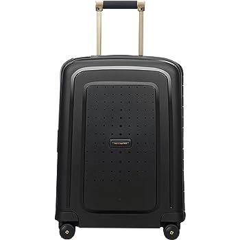 SAMSONITE S'Cure DLX Spinner 55, 2.9 KG Bagage cabine, 55 cm, 34 liters, Noir (Black/Gold Deluscious)
