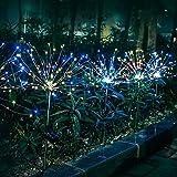 Luces de Jardín Solares Exterior,120 LED Solares Fuegos Artificiales Luces solares 40 hilos de cobre - Flores de bricolaje Ár