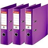 Esselte, N°1 Power, Pack de 3 Classeurs à levier, Violet, Dos 75mm, A4, PP, 624282
