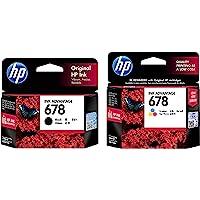 HP 678 2-Pack (1 Black+Tri-Color Ink Cartridge)