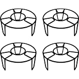 D&V ENGINEERING - Creative in innovation Metal Pot Stand, Black, 22 cm, 4 Pieces