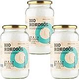 Aceite de Coco CocoNativo Orgánico Virgen Extra Ecologico 3x1000 ml (3 Liter), Extracción En Frío, Fuente De Energía Natural