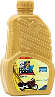 HP Lubricants Racer4 Synth 10W-30 API SN Semi Synthetic Engine Oil for Motorcycle (1 L)