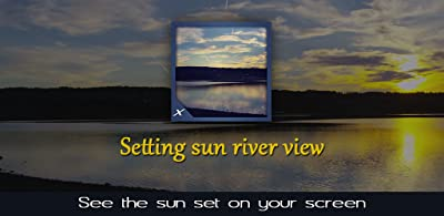 Setting Sun River View - See the Sun Set on Your Screen