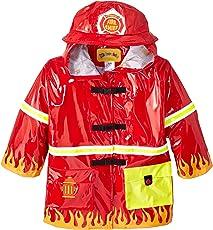 Kidorable Original Kinder Alle Wetter Wasserfeste Regenjacke, Regenmantel Feuerwehrmann Für Jungen und Mädchen