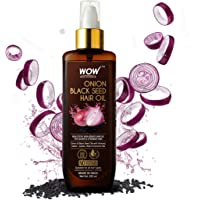 WOW Skin Science Onion Hair Oil With Black Seed Oil Extracts - Controls Hair Fall - No Mineral Oil, Silicones…