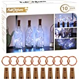 Bottle Lights with Cork, 10 Pack Copper Wire with 20 LEDs 2M LED String Lights, Battery Operated Wine Glass Fairy Lights, for