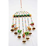 PALPAL Elephant Bamboo Wind Chimes Full Door, Wall Hanging for Home, Tample, Decoration (Paper Mache)