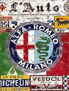 Alfa Romeo 1938/de voiture Panneau r/étro en m/étal /Étain plaque murale fantaisie Cadeau