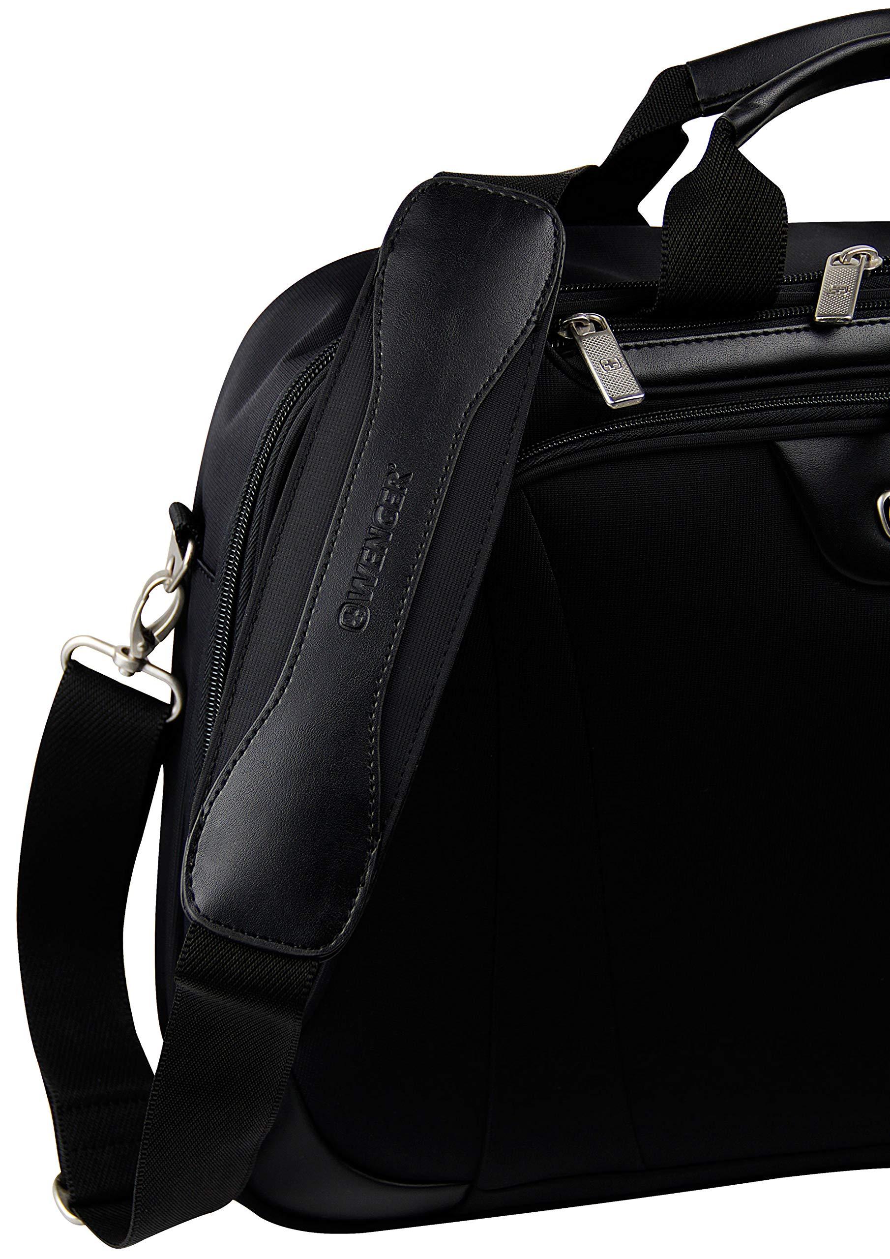 WENGER maletín maletín para portátil de hasta 17″ I maletín de Negocios para Mujeres y Hombres I Bolso Bandolera Bolso Mensajero maletín para portátil I Negro
