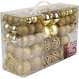 Unbekannt Boules de Noël, Plastique, Plastique, Or, 100x