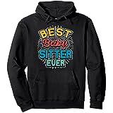 Best Babysitter Ever Funny Babysitting Retro Vintage Gift Sweat à Capuche
