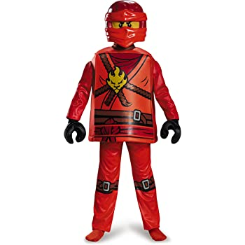 LEGO Costume Kids Ninjago Kai Deluxe Outfit Medium Age 7-8 years HEIGHT 4u0027 2  - 4u0027 5 1/2  sc 1 st  Amazon UK & LEGO Ninjago Nya Deluxe Costume (Small): Amazon.co.uk: Toys u0026 Games