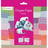 Avenue Mandarine 52509O - Un paquet de 60 feuilles Origami 20x20 cm 70G (30 motifs x 2 feuilles) et une planche de stickers i