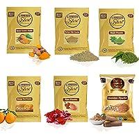 Online Quality Store Combo of Multani Mitti Powder (50 g), with Kasturi Turmeric Powder (50 g), Orange Powder (50 g…