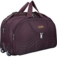 Nice Line Stylish 40 Liters Purple Travel Duffel Bag with Roller Wheels for Men and Women