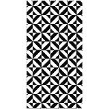 Mesa de caf/é Piso vestidores Alfombra Duradera Felpudo Antideslizante f/ácil de Limpiar Alfombras Simples Dormitorio Negro Blanco y Negro Rayas Blancas para el hogar Alfombrillas