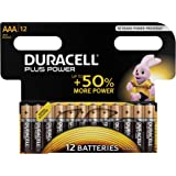 Duracell Plus Power Alkaline AAA Batterien, 12er Pack