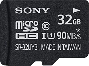 Sony 32GB MicroSD Class 10 UHS-1 High Speed Memory Card With Adapter (SR-32UY3)