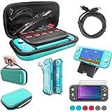 Le kit d'accessoires pour Nintendo Switch Lite,12 in 1 Switch Lite Accessoire Pack Coque Comfort Grip Case, Housse de Protect