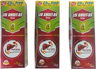 LIV AMRIT DS (PACK OF 3) EACH OF 225 ML (A AYURVEDIC LIVER TONIC)