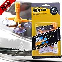 FILBAKE Car Windshield Repair Kit, DIY Windshield Chip Repair Tool Set, Quick Fix Auto Glass for Chips, Cracks, Bull's-Eyes, Stars, Window Repair