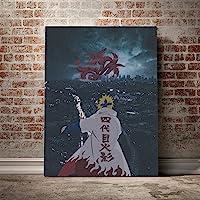 qianyuhe Minato Namikaze Naruto Anime Canvas Poster Painting Wall Art Decor Living Room Bedroom Study Home Decoration…