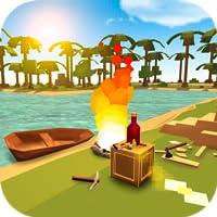 Survive on Pixel Island 3D