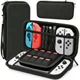 HEYSTOP Case Compatible with Nintendo Switch/Switch OLED Protective Hard Portable Travel Carry Case Shell Pouch Compatible wi