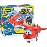 Revell Junior Kit 01024 Super Wings Adventskalender Jett Bauen-Schrauben-Spielen, 24 Tage cooler Bastelspaß, ab 4 Jahre, 20 cm