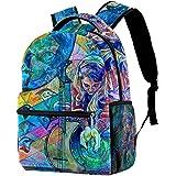 XiangHeFu Schulrucksack für Mädchen Jungen Outdoor Walk Reisetasche Daypack Erde Liebe Bedruckter Sackpack