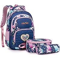 WindTook Kinderrucksack Schulrucksack 3-TLG Schultasche Teenager Rucksack Backpack Mädchen Jungen Kinder Schultaschen…