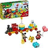 LEGO 10941 DUPLO Disney Tren de Cumpleaños de Mickey y Minnie, Tren de Juguete para Niños, Incluye a Pastel y Globos de Cumpl