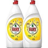Fairy Lemon Dish Washing Liquid Soap, 750 ml, Dual Pack