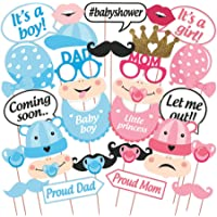 WOBBOX Baby Shower Party Photobooth Props - Set of 30