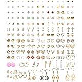 YADOCA 90 par örhängen för kvinnor flickor blandade flera örhängen smycken set med kort enkla örhängen set guldton