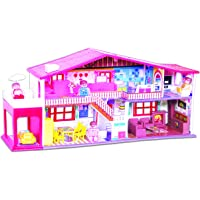 Toyzone - 8904103144130 My Deluxe Doll House/Play Set for Girls (50 Pcs) -Multicolour