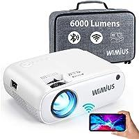 Videoprojecteur WiFi Bluetooth, W2 6000L Mini Projecteur Supporte 1080p Full HD Retroprojecteur Portable avec Fonction…