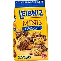 Leibniz Minis Choco 125— Mini-Butterkekse mit Schokolade — Schoko-Kekse für den kleinen Hunger - Mini-Kekse im…