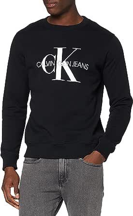 Calvin Klein Jeans Men's Iconic Monogram Crewneck Sweatshirt