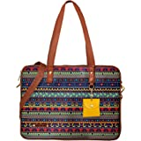 "Funk For Hire Women Printed Vegan Leather 15.6"" Laptop Handbag/Sling Multi Color"