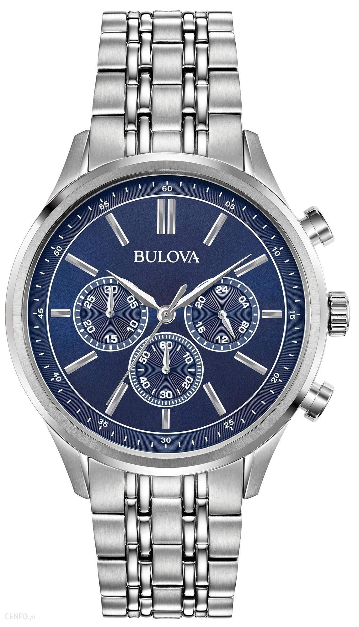 Bulova Mens Chronograph Quartz Watch with Stainless Steel Strap 96A210