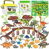Vanplay Jouet Dinosaure y Compris Figurine Dinosaure et Oeuf Dinosaure avec Tapis et Boite de Rangement pour Les Enfants 53Pc