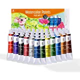 ESENG® Fruit WP-12 Premium aquarelverfset, waterverf, 12 tubes x 12 ml, transparantie kleurkracht, voor beginners, amateurs,
