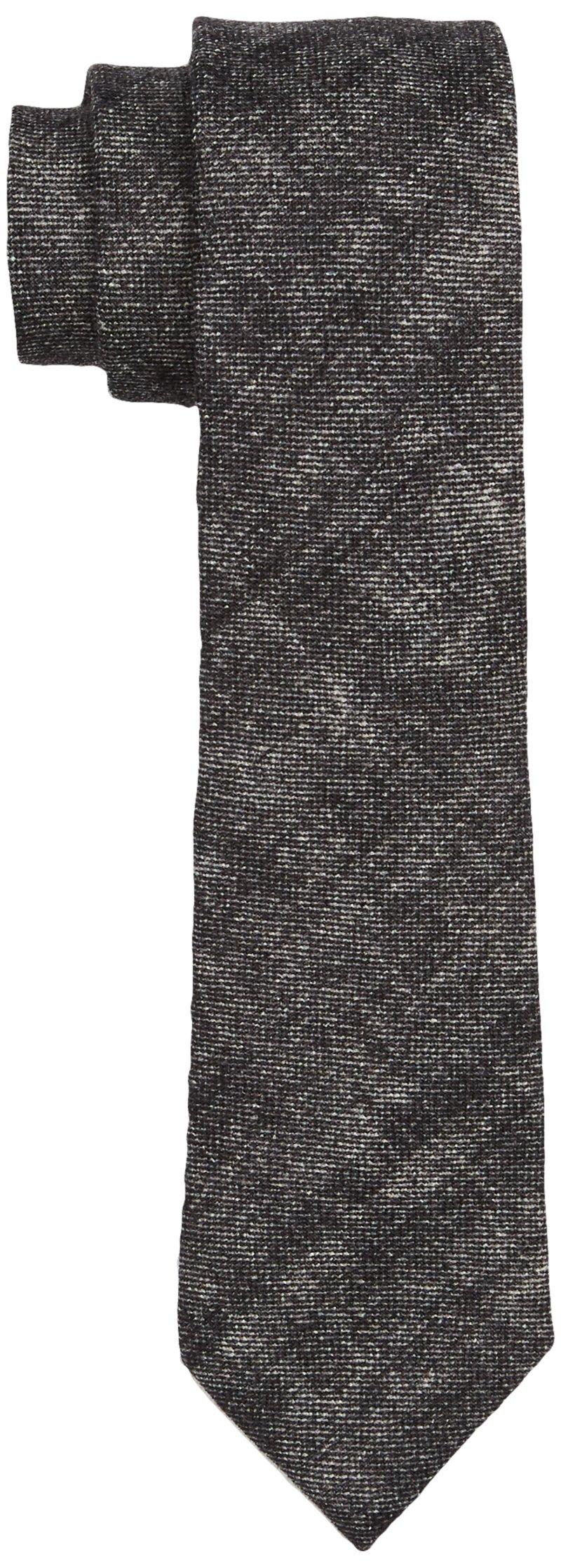 Calvin Klein Navelli Uneven Strip Corbata, Negro (Asphalt), Talla única (Talla del Fabricante: OS) para Hombre